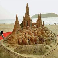 sand art of sudarshan pattanaik, puri