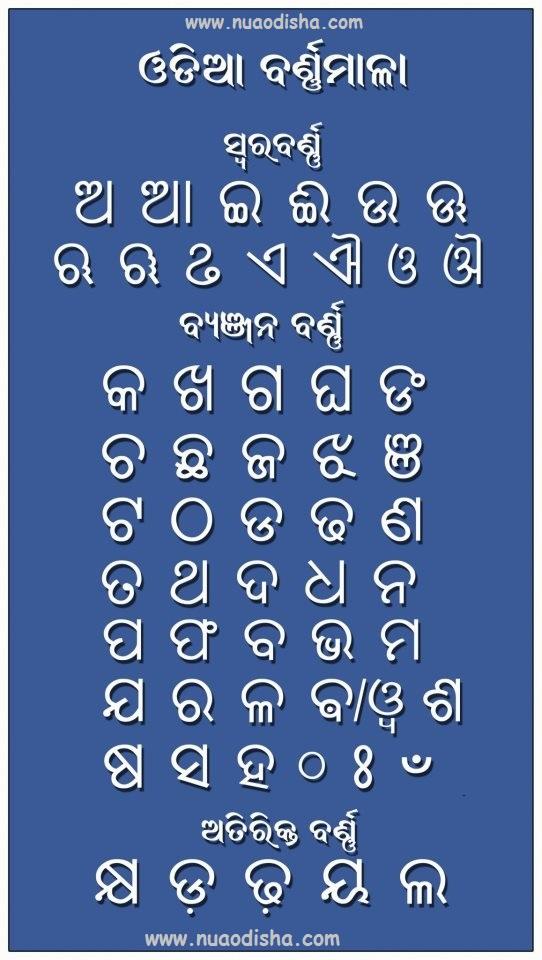 Odia Barna Mala Odia Letters Learn Odia Language At