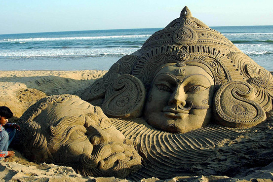 Sand Art Of Puri, Odisha