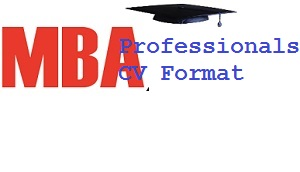 best cv format for mba professionals india