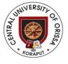 Job Openings in Central University of Orissa-July-2017