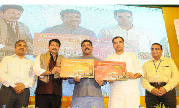 Oil Minister Pradhan Launches Prepaid Smart Cards for CNG Consumers-2017