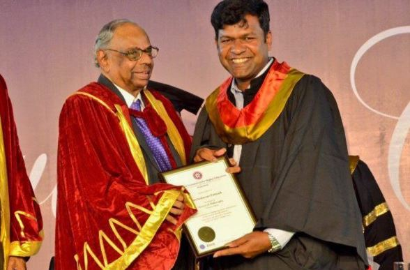 Sand Artist Sudarsan Pattnaik Receives Honorary Doctorate from ICFAI University-2017