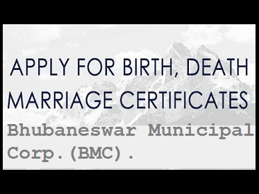 Apply for marriage birth death certificates bmc bhubaneswar yelopaper Image collections