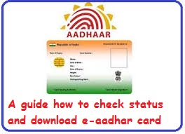 aadhaar card status and download eaadhar card online